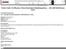 Energy Transformation with Balance Toys Lesson Plan