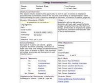 Energy Transformations Lesson Plan
