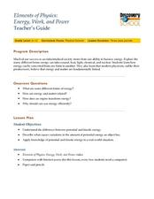 Energy, Work and Power Lesson Plan