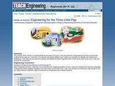 Engineering For The 3 Little Pigs Lesson Plan