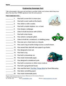 Engineering Scavenger Hunt Lesson Plan