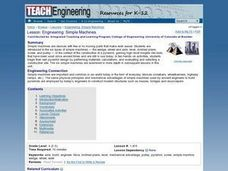 Engineering: Simple Machines Lesson Plan