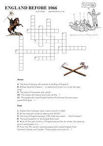 ... 1066 Crossword Puzzle 6th - 10th Grade Worksheet | Lesson Planet