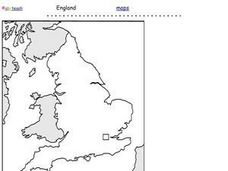 England Outline Map Worksheet