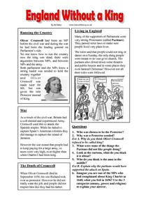 England Without a King Worksheet