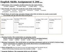 English Skills 6.206 Worksheet