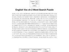 English Voc ch 2 Word Search Puzzle Worksheet