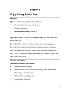 Enjoy Living Smoke Free Lesson Plan