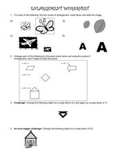 Enlargement Worksheet Worksheet