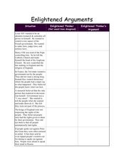 Enlightened Arguments Lesson Plan
