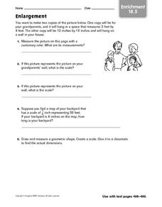 Enrichment: Enlargement Worksheet