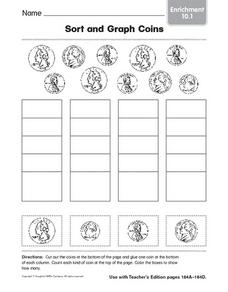 Enrichment: Sort and Count Coins Worksheet