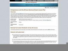 Entrepreneurs and the African-American Dream Lesson Plan Lesson Plan