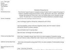 Environment: Renewable Energy Sources Lesson Plan