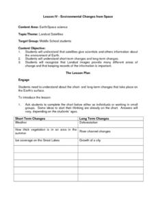 Environmental Changes from Space Lesson Plan