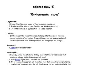 Environmental Issues Lesson Plan