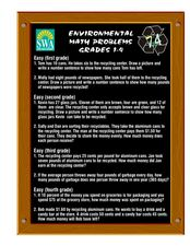 Environmental Math Problems Lesson Plan