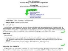 Environmental Voting Records of Legislators Lesson Plan
