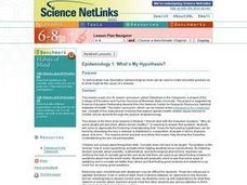 Epidemiology 1: What's My Hypothesis? Lesson Plan