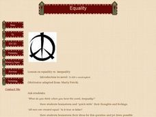 Equality Vs. Inequality Introduction to novel: To Kill a mockingbird Lesson Plan