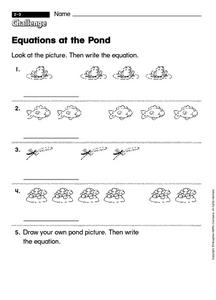 Equations at the Pond Worksheet