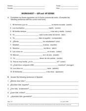 Preterite Forms Of Ar Er Ir Verbs 9th 11th Grade Lesson