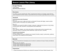 Escape Velocity Lesson Plan