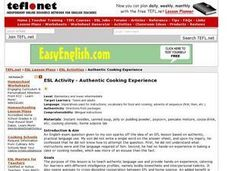ESL Activity - Authentic Cooking Experience Lesson Plan
