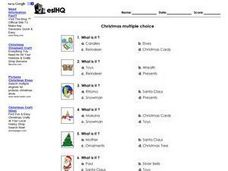 ESL Christmas Multiple Choice Worksheet Worksheet