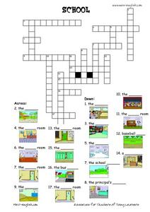 ESL Vocabulary Crossword: School Worksheet