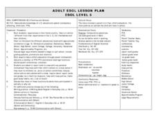 ESOL Families and Schools Lesson Plan