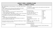 ESOL Recognize Basic Questions Lesson Plan