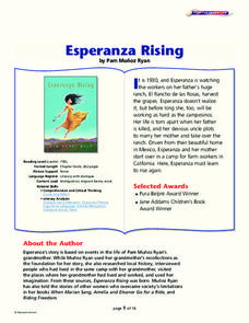 esperanza rising essay questions Study questions and essay ideas for esperanza rising by pam munoz ryan.