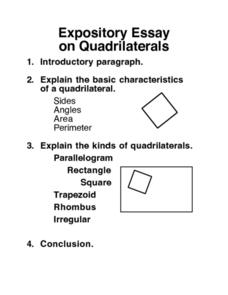 Essay on Quadrilaterals Worksheet