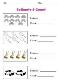 Estimate and Count Worksheet