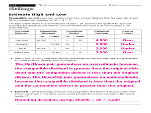 Printables Compatible Numbers Worksheet compatible numbers lesson plans worksheets reviewed by teachers estimate high and low numbers