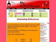 Estimating Differences (Online Interactive) Worksheet