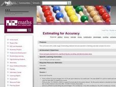 Estimating for Accuracy Lesson Plan