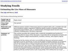 Estimating the Live Mass of Dinosaurs Lesson Plan