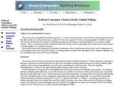 Ethical Consumer Choices in the Global Village Lesson Plan
