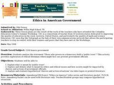 Ethics in American Government Lesson Plan
