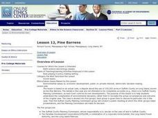 Ethics In The Science Classroom - Pine Barrens Lesson Plan