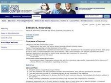 Ethics in the Science Classroom: Recycling Lesson Plan