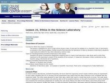 Ethics in the Science Laboratory Lesson Plan
