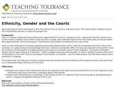 Ethnicity, Gender and the Courts Lesson Plan