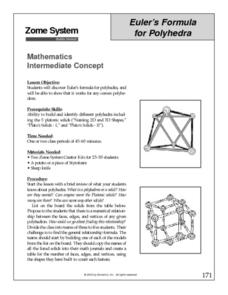 Euler's Formula for Polyhedra Lesson Plan