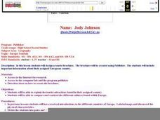Euro-Tourism Lesson Plan