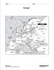Europe Labeled Map Worksheet
