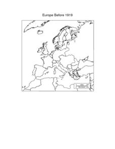 Europe Maps Worksheet