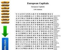 European Capitals Worksheet